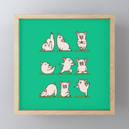 Pig Yoga Framed Mini Art Print
