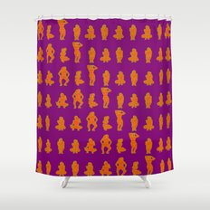 Dip & Come Up - June Plum Shower Curtain