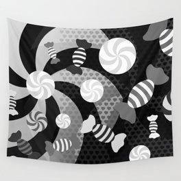 Black and White Sugar Crush Wall Tapestry