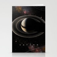 saturn Stationery Cards featuring SATURN by Alexander Pohl