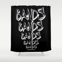 bands Shower Curtains featuring BANDS! by K'VAL