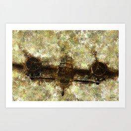 Grunge Dynamics 049 Blenheim Art Print