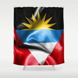 Antigua and Barbuda Flag Shower Curtain