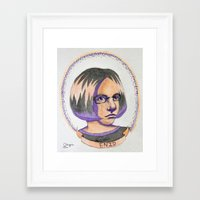 ghost world Framed Art Prints featuring Ghost World by Ollieverse, Misa Reinertsen