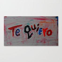 te quiero Canvas Print