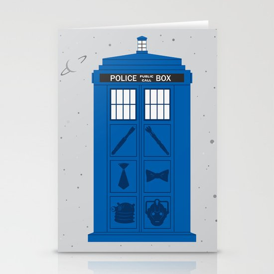 The Tardis Got Some Ink Stationery Cards