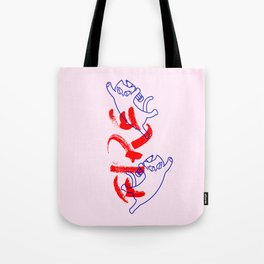 fire flying cat Tote Bag