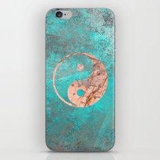 Yin Yang - Rose Turquoise Marble iPhone & iPod Skin