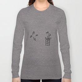 stork nest chimney storks Long Sleeve T-shirt