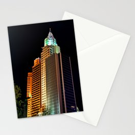 New York New York Hotel Las Vegas America Stationery Cards