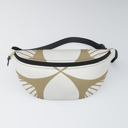 Diamond Series Floral Diamond Gold on White Fanny Pack