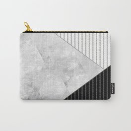 Valencia 1  Abstract black and white geometric pattern. Carry-All Pouch