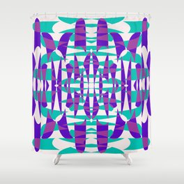 Purple And Teal Shape Shift Shower Curtain