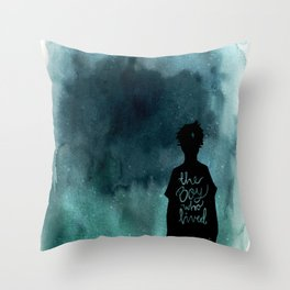 the boy Throw Pillow