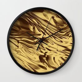 Gold Silk Wall Clock