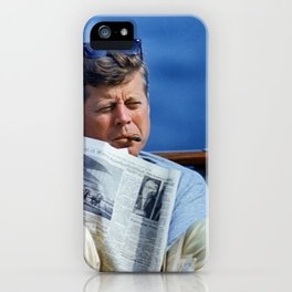 John F Kennedy Smoking iPhone Case