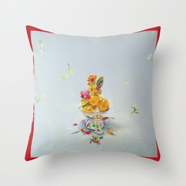 Year of the Rooster (with border) Throw Pillow