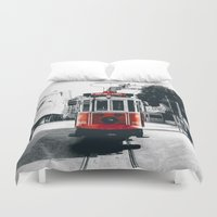 istanbul Duvet Covers featuring Istanbul - Taksim by Ruveyda & Emre
