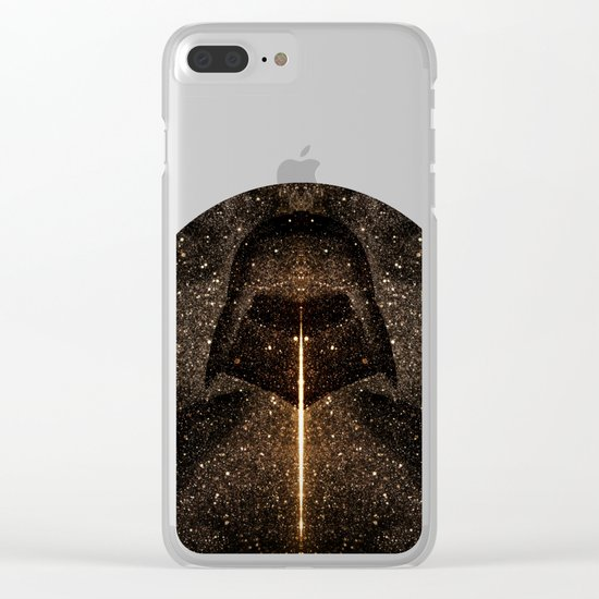 Force of light through the dark side Clear iPhone Case