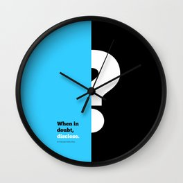 Lab No. 4 -When in doubt disclose N.r. Narayana Murthy Inspirational Corporate Startup Quotes Poster Wall Clock