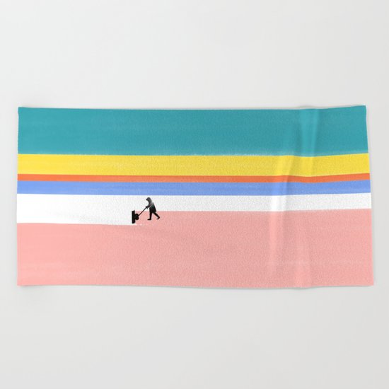 Winter Cleaning Beach Towel