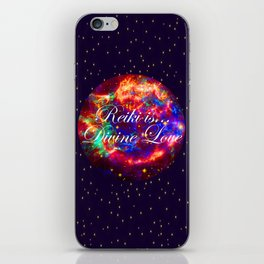 Reiki is Divine Love   The Energy it Flows   Going with the Flow iPhone Skin