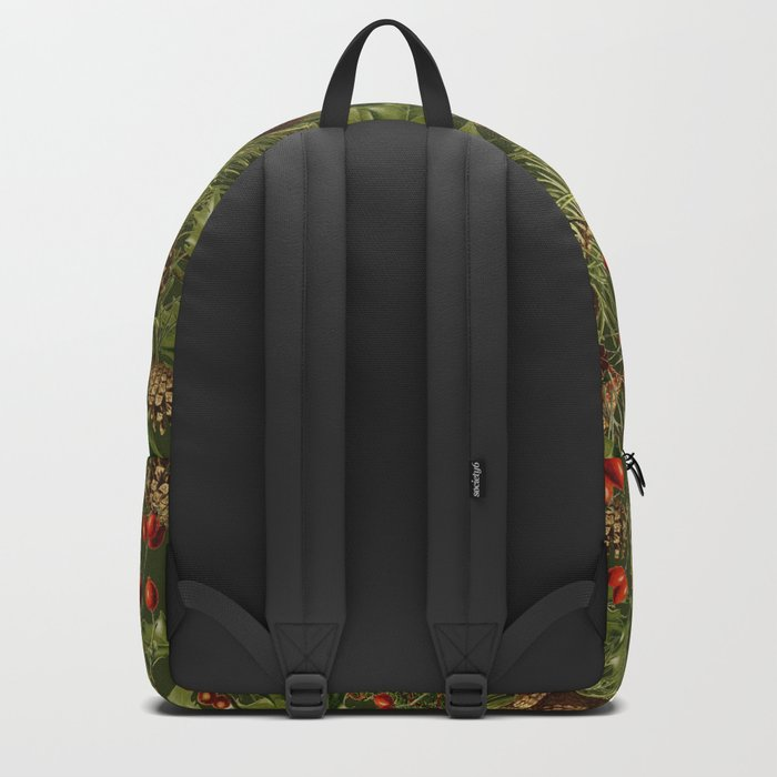 Traditional Holly Christmas Pattern Backpack