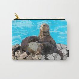 Where the River Meets the Sea Otters Carry-All Pouch