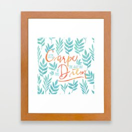 Let's Carpe The Hell Out Of This Diem - Watercolor Framed Art Print