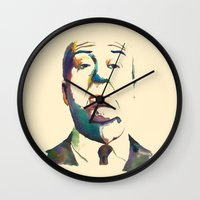 hitchcock Wall Clocks featuring Hitchcock by totemxtotem