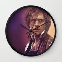 enjolras Wall Clocks featuring Enjolras by Julia Bland