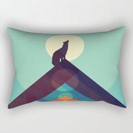 Howling Wild Wolf Rectangular Pillow
