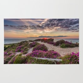 Headon Hill Sunset Isle Of Wight Rug