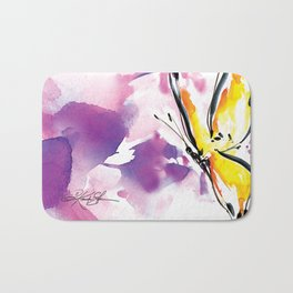 Butterfly Song No. 50 by Kathy Morton Stanion Bath Mat