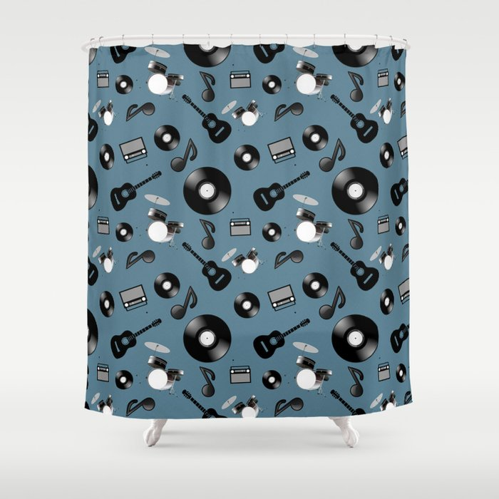Music Shower Curtain By Jonnarae