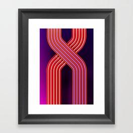 Neon crossing Framed Art Print