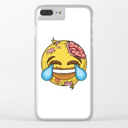 If the most famous emoji was a zombie Clear iPhone Case