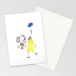 Hello Woman Stationery Cards