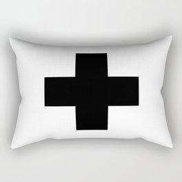 Swiss Cross Scandinavian Plus Sign Nordic Art Design Home Decor Rectangular Pillow