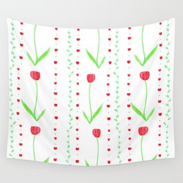 Floral Pattern Wall Tapestry