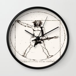 Guitar Man and Da Vinci Wall Clock