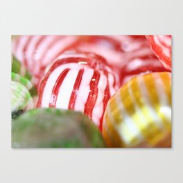 Macro of Stiped Hard Candy Canvas Print