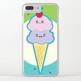 Cherries Jubilee Ice Cream Clear iPhone Case