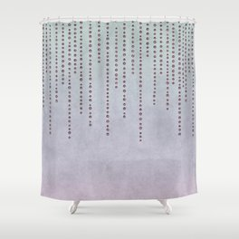 Sparkling Faux Glitter Soft Pastel Pink and Teal Shower Curtain