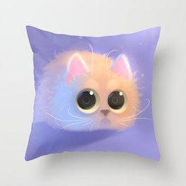 Peach Throw Pillow