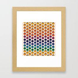 Perforated Framed Art Print