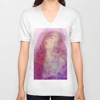 goddess V-neck T-shirts featuring Goddess  by Katekima