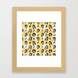 Friends Pattern Art Framed Art Print