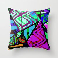 honeycomb Throw Pillows featuring Honeycomb by Sarah Bagshaw