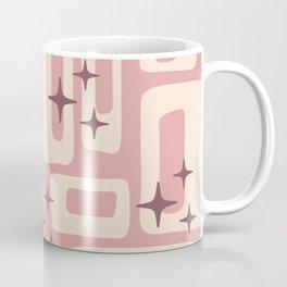 Retro Mid Century Modern Abstract Pattern 576 Dusty Rose Coffee Mug